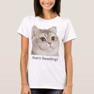 Heavy Breathing cat Tshirt