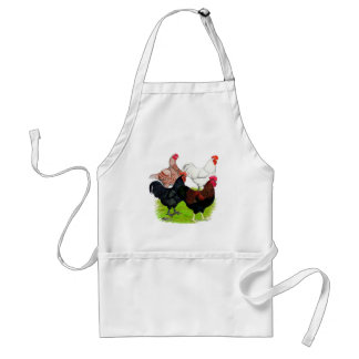 Heavy Breed Rooster Quartet Aprons