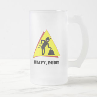 HEAVY DUDE 8 FROSTED GLASS BEER MUG