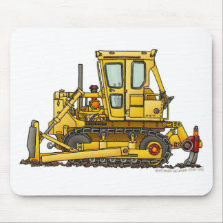 Heavy Duty Bulldozer Dirt Mover Construction Mouse Mouse Pad