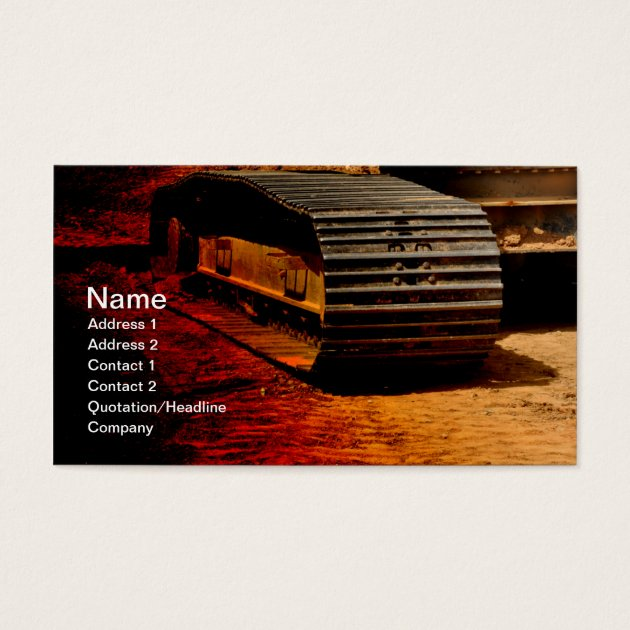 heavy duty construction equipment business card | Zazzle