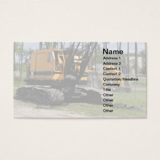 Construction Equipment Business Cards & Templates | Zazzle