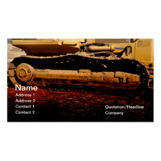 heavy duty construction equipment Double-Sided standard business cards (Pack of 100)