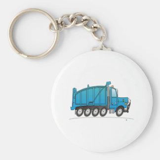Heavy Duty Dump Truck Blue Keychain