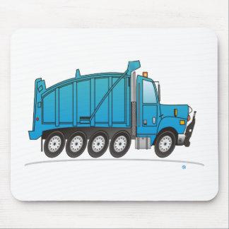 Heavy Duty Dump Truck Blue Mouse Mats
