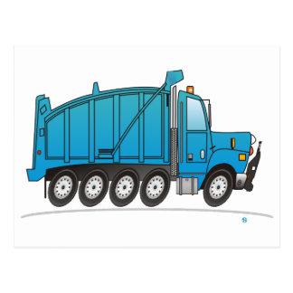 Heavy Duty Dump Truck Blue Post Cards