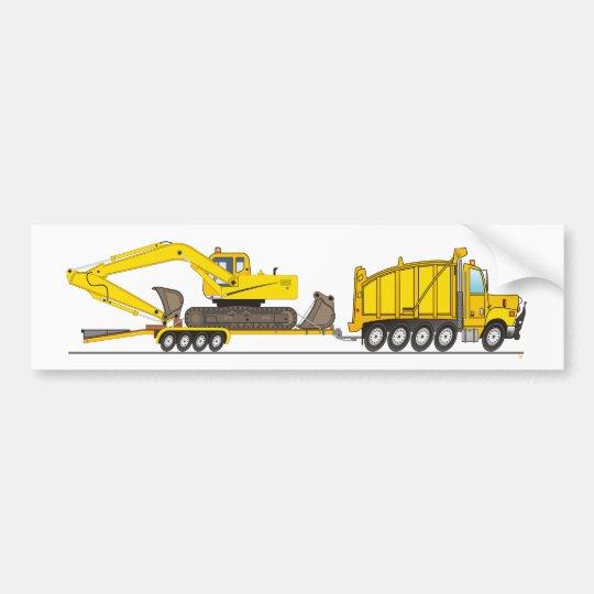Heavy Duty Dump Truck Crane Bumper Sticker