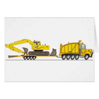 Heavy Duty Dump Truck Crane Card