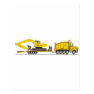 Heavy Duty Dump Truck Crane Postcard