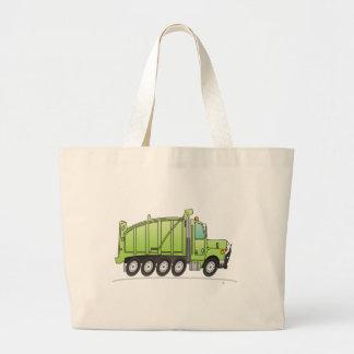 Heavy Duty Dump Truck Green Tote Bag