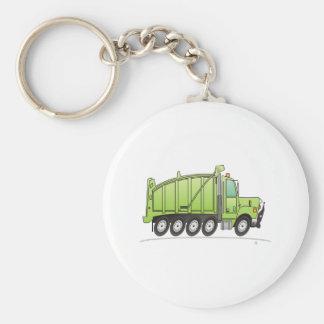 Heavy Duty Dump Truck Green Keychain