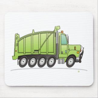 Heavy Duty Dump Truck Green Mouse Mats