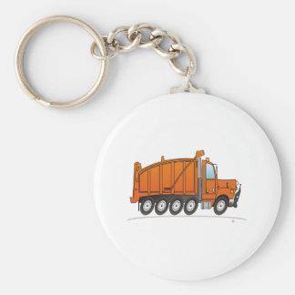 Heavy Duty Dump Truck Orange Keychain