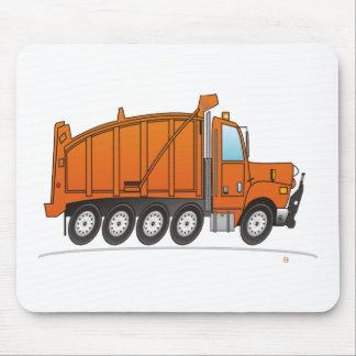 Heavy Duty Dump Truck Orange Mouse Mat