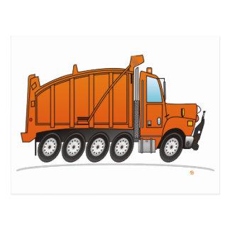 Heavy Duty Dump Truck Orange Post Cards