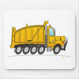 Heavy Duty Dump Truck Yellow Mouse Pad