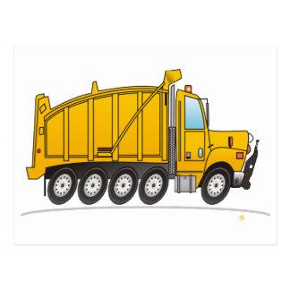 Heavy Duty Dump Truck Yellow Postcard