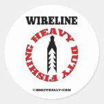 Heavy Duty Fishing, Wireline Fishing, Oil Field Round Sticker