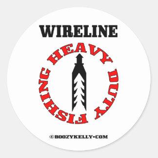 Heavy Duty Fishing, Wireline Fishing, Oil Field Classic Round Sticker