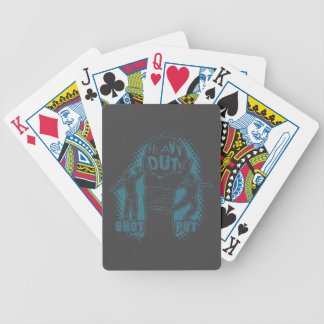 Heavy duty – shot put bicycle playing cards
