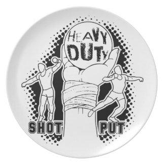 Heavy duty – shot put dinner plate