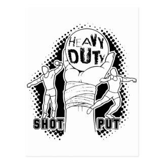 Heavy duty – shot put postcard