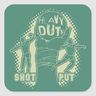 Heavy duty – shot put square sticker