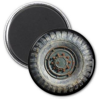 Heavy Duty Wheel Fridge Magnet
