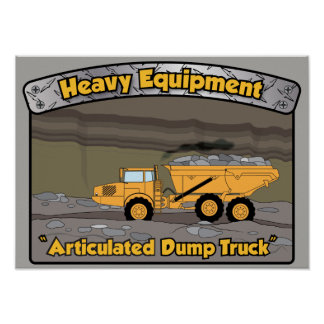 Heavy Equipment Articulated Dump Truck poster