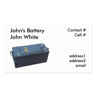 heavy equipment battery business card