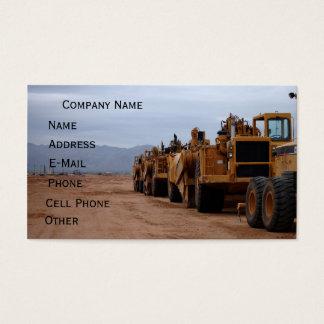 Heavy Equipment Business Card
