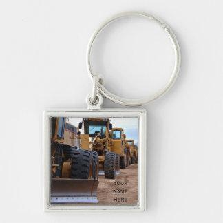 Heavy Equipment Image Keychain
