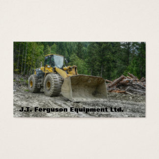 Heavy Equipment Machinery Land Clearing Tractor Business Card