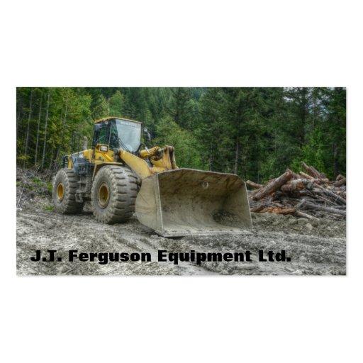 Heavy equipment machinery land clearing tractor business for Heavy equipment business cards