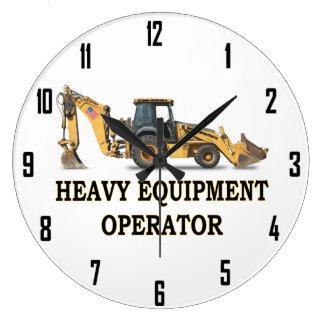 HEAVY EQUIPMENT OPERATOR WALL CLOCK