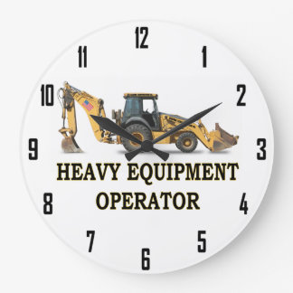 HEAVY EQUIPMENT OPERATOR LARGE CLOCK