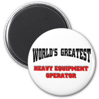 Heavy equipment operator fridge magnets