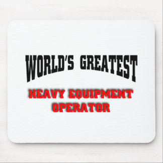 Heavy equipment operator mouse pad