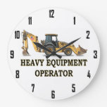 HEAVY EQUIPMENT OPERATOR WALL CLOCKS