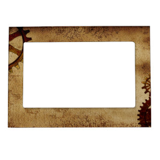 Heavy Grunge Vintage Steampunk Paper Magnetic Picture Frame