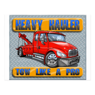 Heavy Hauler Tow Truck Post Cards