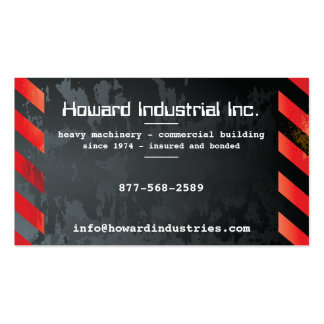 Heavy Hazards Red Double-Sided Standard Business Cards (Pack Of 100)
