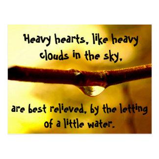 Heavy hearts postcard