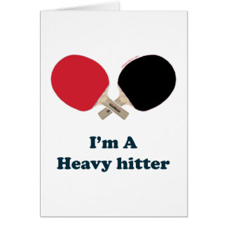 Heavy Hitter Ping Pong Card