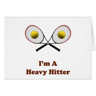 Heavy Hitter Tennis Card