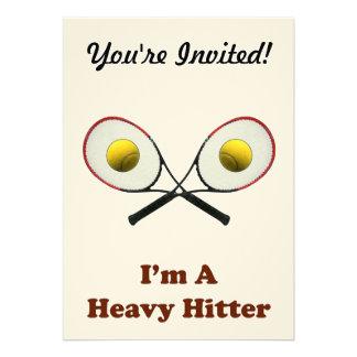 Heavy Hitter Tennis Custom Invitation
