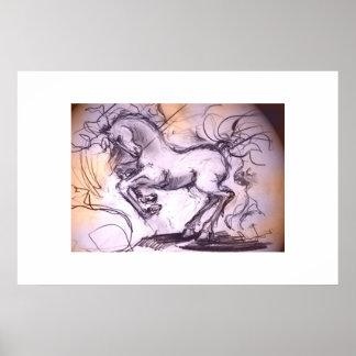 Heavy horse print