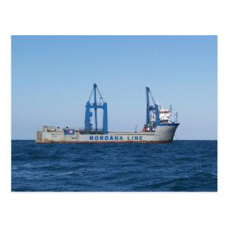 Heavy Lifting Vessel MV Lilleborg Postcard