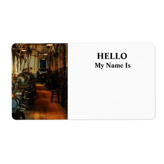 Heavy Machine Shop Label