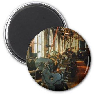 Heavy Machine Shop Fridge Magnets